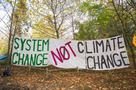 system change not climate change CC banner