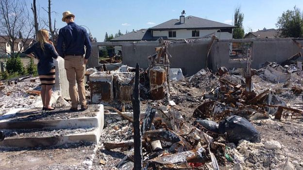 ALBERTA HOMES DESTROYED