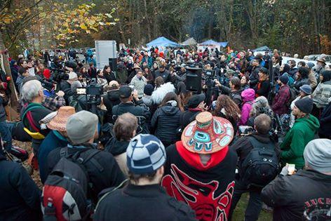 Burnaby Mountain crowd