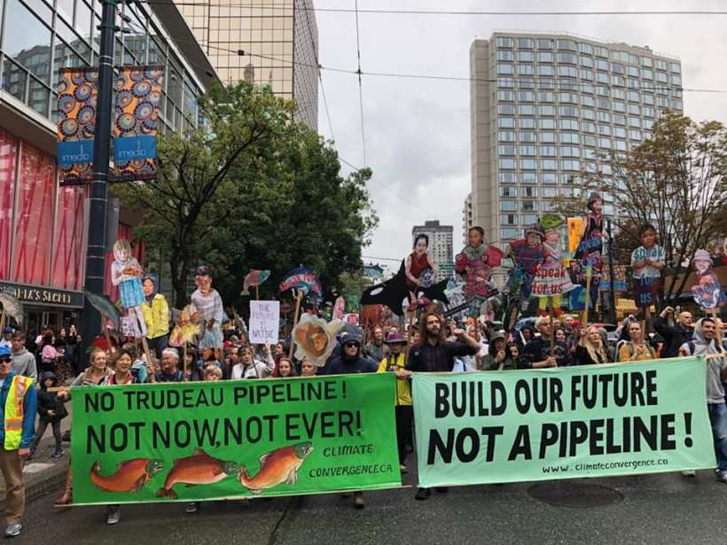Rise For Climate banners